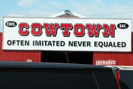 Cowtown Sign over entrance