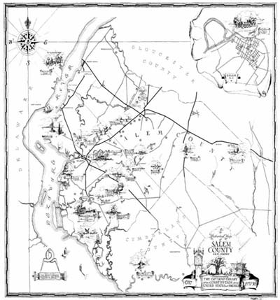 Thumbnail of old Salem county historical map