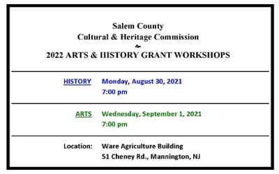 2022 Arts & History Grant Workshops